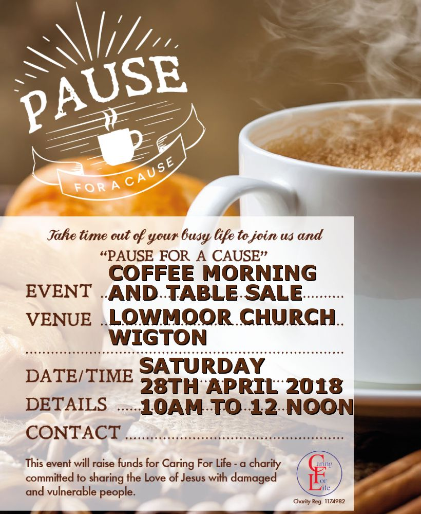 Caring For Life - Coffee Morning and Table Sale